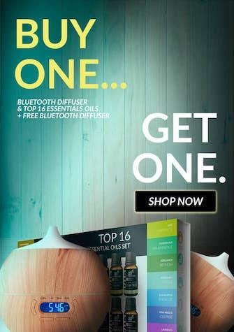 Diffuser with top 16 oils set and free extra diffuser