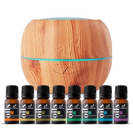 Top 8 Essential Oils & Maple Diffuser Set