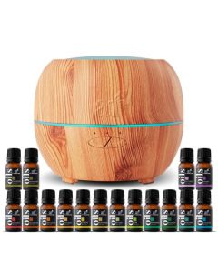 Top 16 Essential Oils & Maple Diffuser Set