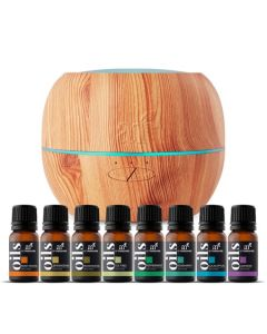 Top 8 Essential Oils & Maple Diffuser Set