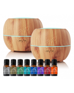 ArtNaturals Essential Oil Diffuser (150ml) & Top 8 Blend Set + Free Diffuser