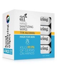 artnaturals hand Sanitizing Wipes 4 Pack 50 units each.