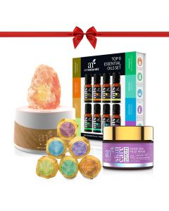 Essential Oil Himalayan Salt Lamp Diffuser Holiday Gift Set
