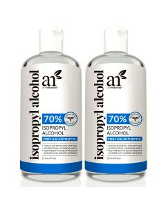 Artnaturals Rubbing Isopropyl Alcohol - 70% Pure - 2 Pack x 16 Fl Oz - 473ml