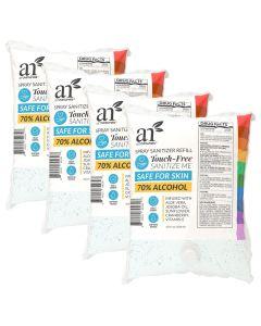 ArtNaturals Hand Sanitizer Refills for Dispenser - 4 Pack