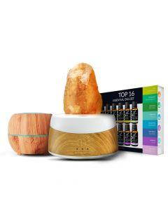 Himalayan salt lamp diffuser. 16 essential oils. Diffuser 150ml