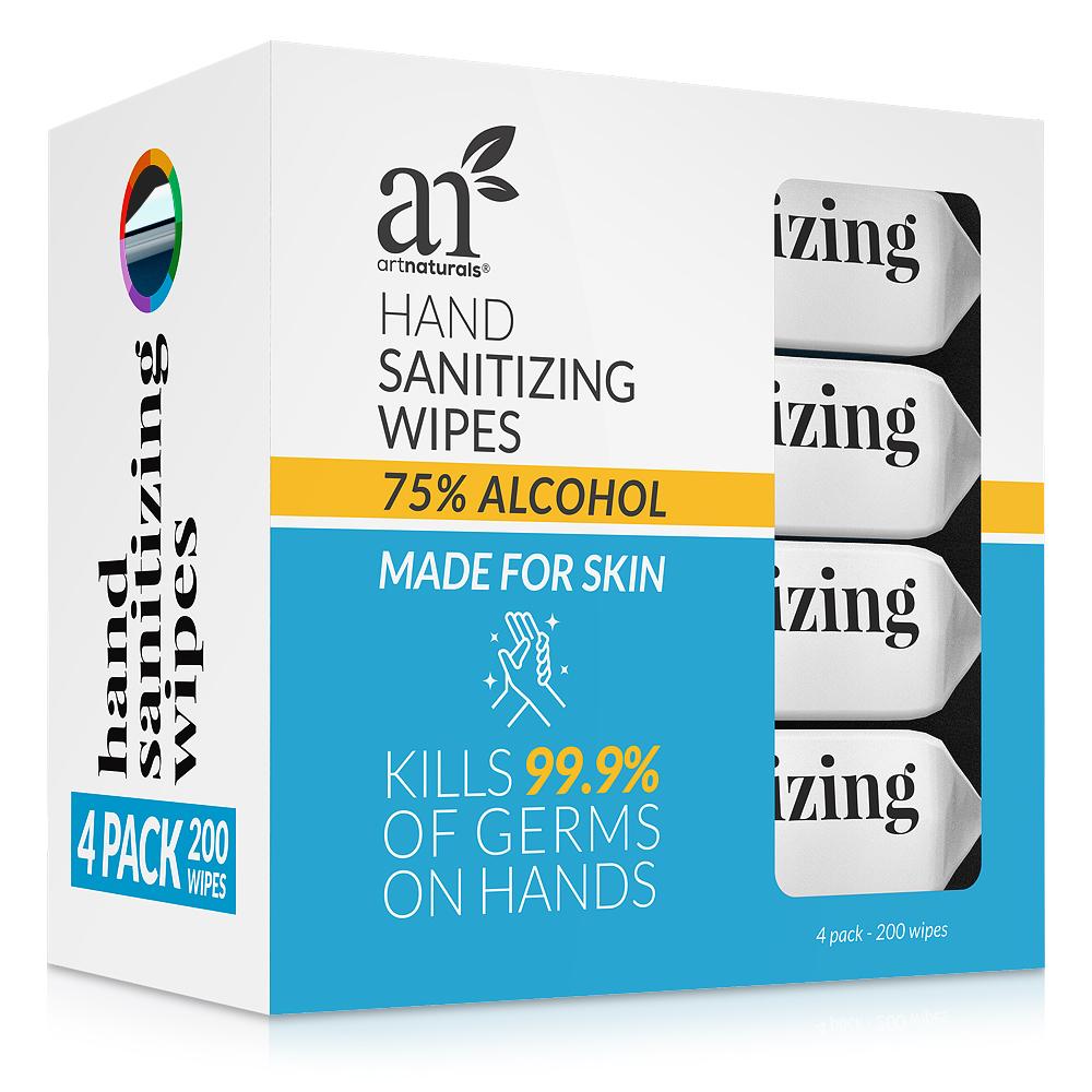 Hand Sanitizing Wipes 4 packs of 50 units
