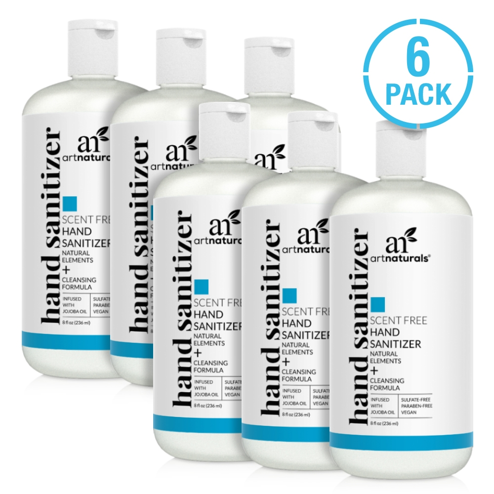 Hand sanitizer scent free - 6 pack