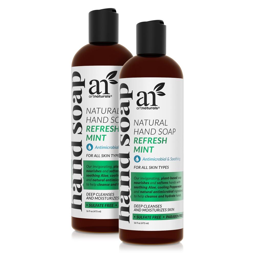 Refresh Mint Natural Hand Soap 2 Packs
