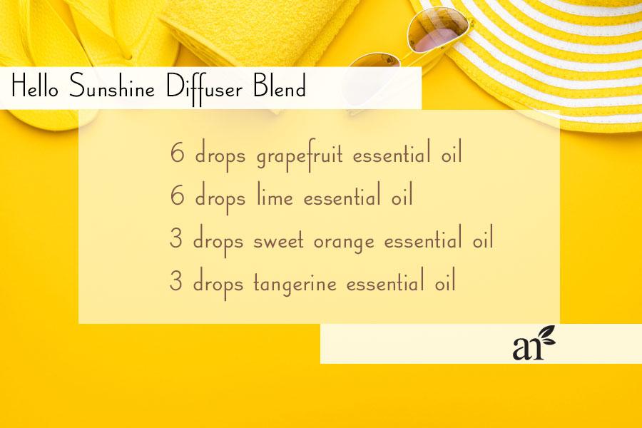 yellow-summer-beach-theme-hello-sunshine-essential-oil-diffuser-blend-recipe